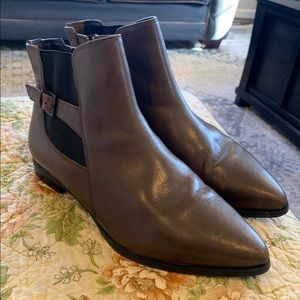 Clarks brown leather ankle boots size 10